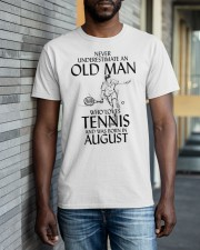 An Old Man Loves Tennis August TE00538 Classic T-Shirt apparel-classic-tshirt-lifestyle-front-40