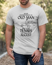 An Old Man Loves Tennis August TE00538 Classic T-Shirt apparel-classic-tshirt-lifestyle-front-53