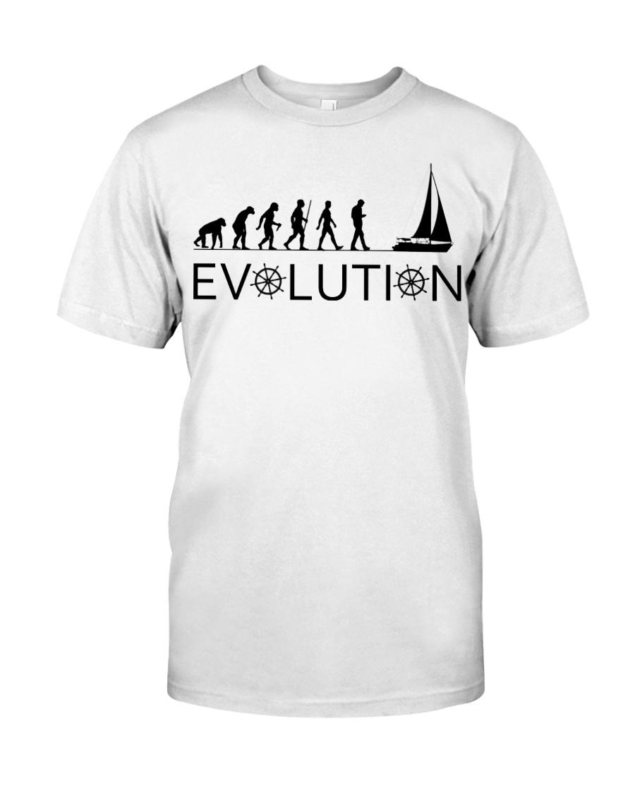 I LOVE SAILING EVOLUTION Classic T-Shirt