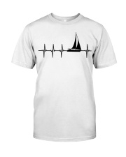 I LOVE SAILING HEARTBEAT Classic T-Shirt front