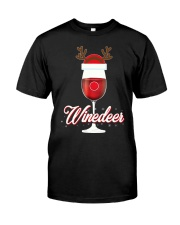 Winedeer Christmas Wine T-Shirt Reindeer Red Wine  Classic T-Shirt front