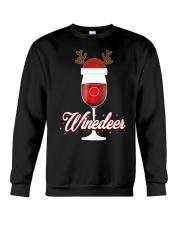 Winedeer Christmas Wine T-Shirt Reindeer Red Wine  Crewneck Sweatshirt thumbnail