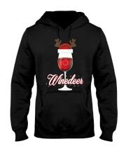 Winedeer Christmas Wine T-Shirt Reindeer Red Wine  Hooded Sweatshirt thumbnail