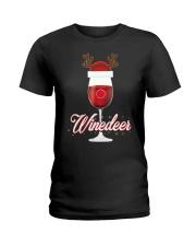 Winedeer Christmas Wine T-Shirt Reindeer Red Wine  Ladies T-Shirt thumbnail
