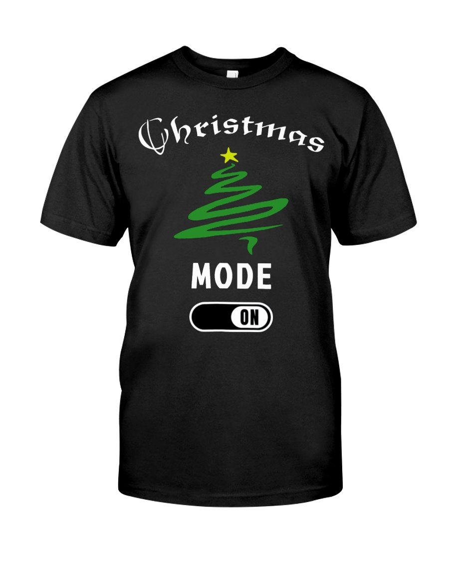 Christmas Mode On T Shirt for Women Men   Children Classic T-Shirt