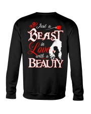 JUST A BEAST IN LOVE WITH A BEAUTY Crewneck Sweatshirt thumbnail