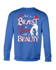 JUST A BEAST IN LOVE WITH A BEAUTY Crewneck Sweatshirt back