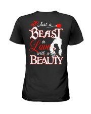 JUST A BEAST IN LOVE WITH A BEAUTY Ladies T-Shirt thumbnail