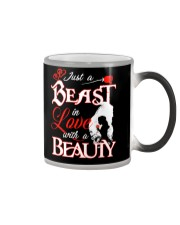JUST A BEAST IN LOVE WITH A BEAUTY Color Changing Mug thumbnail