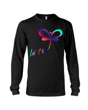 Let It Be Dragonfly Hippie For Women T-shirt Long Sleeve Tee thumbnail