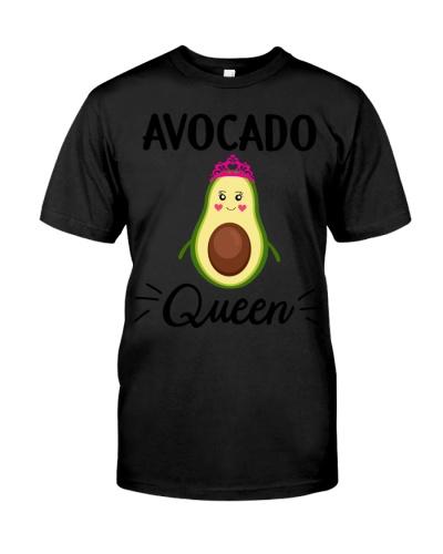 Avocado T-Shirt Women Girls Avocado Queen