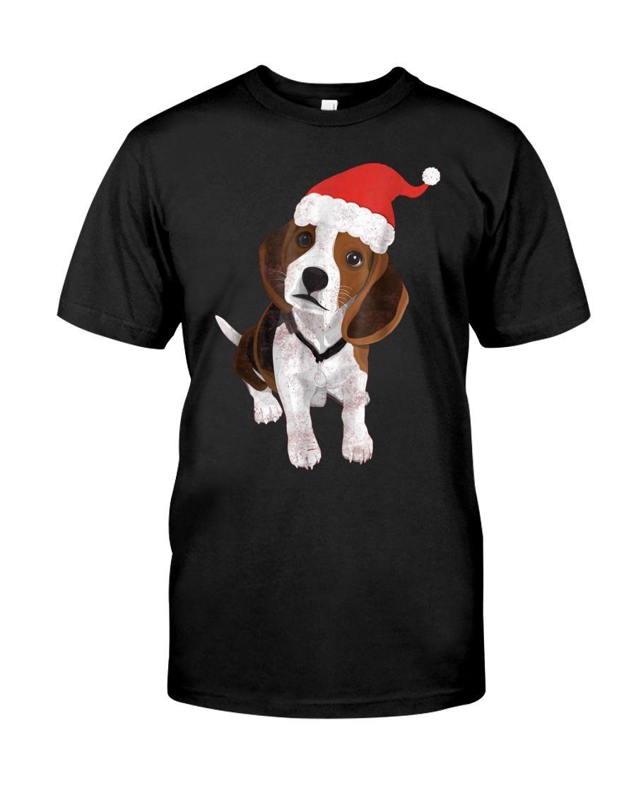 Beagle Santa Hat Shirt Merry Christmas Beagle Love Classic T-Shirt