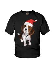 Beagle Santa Hat Shirt Merry Christmas Beagle Love Youth T-Shirt thumbnail