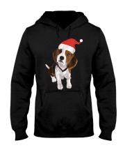 Beagle Santa Hat Shirt Merry Christmas Beagle Love Hooded Sweatshirt thumbnail