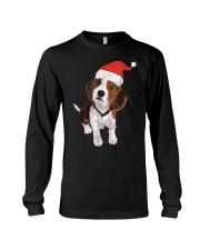 Beagle Santa Hat Shirt Merry Christmas Beagle Love Long Sleeve Tee thumbnail
