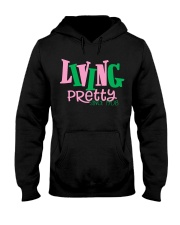Living Pretty AKA Shirt - AKA Sorority - 1908 Hooded Sweatshirt thumbnail