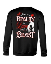 JUST A BEAUTY IN LOVE WITH A BEAST Crewneck Sweatshirt thumbnail