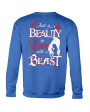 JUST A BEAUTY IN LOVE WITH A BEAST Crewneck Sweatshirt back
