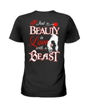 JUST A BEAUTY IN LOVE WITH A BEAST Ladies T-Shirt thumbnail