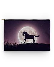 Purple Unicorn zipper bag Accessory Pouch - Standard back