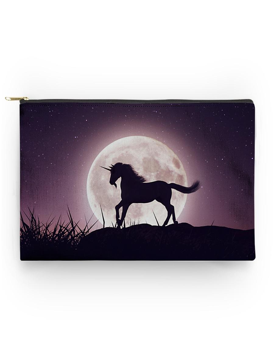 Purple Unicorn zipper bag Accessory Pouch - Standard
