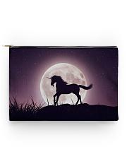 Purple Unicorn zipper bag Accessory Pouch - Standard front