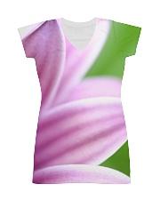Purple Petals All-over Dress front