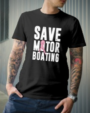 Save Motorboating Funny Breast Cancer Awareness  Classic T-Shirt lifestyle-mens-crewneck-front-6