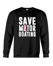Save Motorboating Funny Breast Cancer Awareness  Crewneck Sweatshirt thumbnail