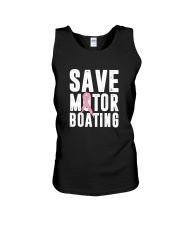 Save Motorboating Funny Breast Cancer Awareness  Unisex Tank thumbnail