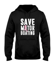 Save Motorboating Funny Breast Cancer Awareness  Hooded Sweatshirt thumbnail