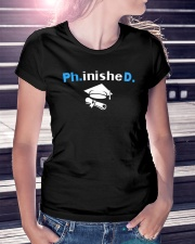 PhD Phinished PhD Graduation Giftds Ladies T-Shirt lifestyle-women-crewneck-front-7