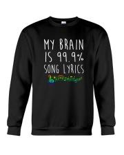 My Brain is 99 Song lyrics Funny Music Notes  Crewneck Sweatshirt thumbnail