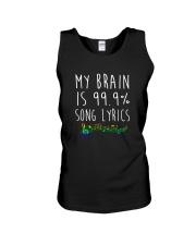 My Brain is 99 Song lyrics Funny Music Notes  Unisex Tank thumbnail