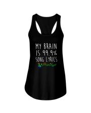 My Brain is 99 Song lyrics Funny Music Notes  Ladies Flowy Tank thumbnail