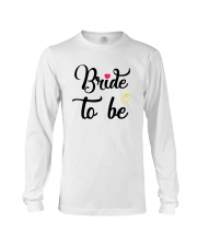 Bride To Be Shirt Matching Heart Wedding Bridal  Long Sleeve Tee thumbnail
