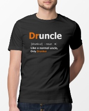 Druncle Like a Normal Uncle Only Drunker Funny Classic T-Shirt lifestyle-mens-crewneck-front-13