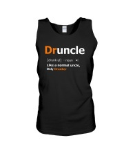 Druncle Like a Normal Uncle Only Drunker Funny Unisex Tank thumbnail