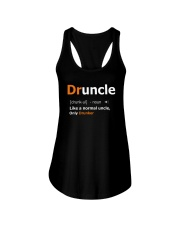 Druncle Like a Normal Uncle Only Drunker Funny Ladies Flowy Tank thumbnail
