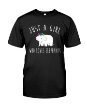 Just A Girl Who Loves Elephants Shirt  Classic T-Shirt thumbnail