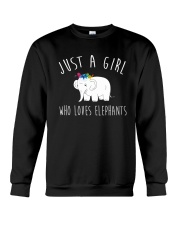 Just A Girl Who Loves Elephants Shirt  Crewneck Sweatshirt thumbnail