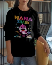 Nana Shark Doo Doo Doo Shirt Long Sleeve Tee apparel-long-sleeve-tee-lifestyle-06