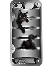Cat Hide And Seek Metal Phone Case i-phone-8-case