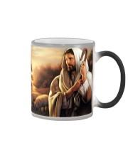 Jesus Christ The Good Shepherd Color Changing Mug tile