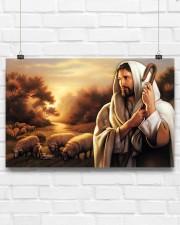 Jesus Christ The Good Shepherd 17x11 Poster aos-poster-landscape-17x11-lifestyle-17