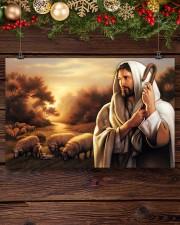 Jesus Christ The Good Shepherd 17x11 Poster aos-poster-landscape-17x11-lifestyle-27