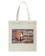 Be Still Personalized Tote Bag tile