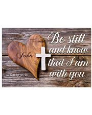 Be Still Personalized 17x11 Poster front