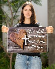 Be Still Personalized 17x11 Poster poster-landscape-17x11-lifestyle-19