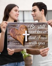 Be Still Personalized 17x11 Poster poster-landscape-17x11-lifestyle-20